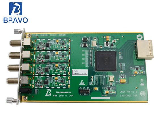 China Tremendous Data Processing Sub Board , 4 Channel FM / AM Audio Capture Sub Card factory