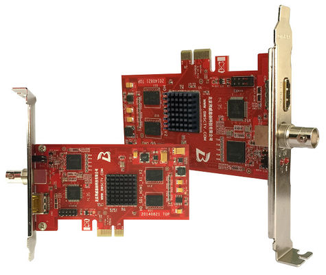 2 Channel Audio Video Capture Card HDMI/SDI PCI-E Capture Card For Media Server